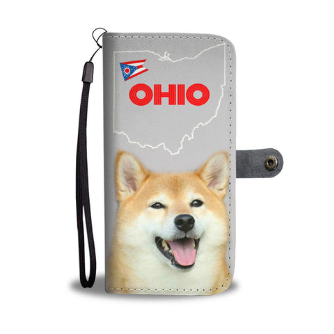 Shiba Inu Print Wallet Case-Free Shipping-OH State