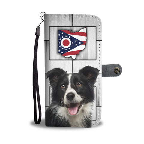 Cute Border Collie Print Wallet Case-Free Shipping-OH State
