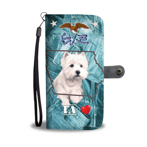Cute West Highland White Terrier Print Wallet Case-Free Shipping-IA State