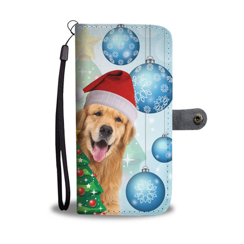 Golden Retriever Christmas Print Wallet Case-Free Shipping