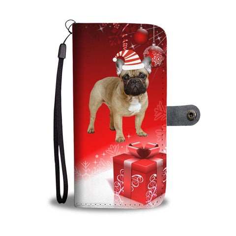 French Bulldog Christmas Print Wallet Case-Free Shipping
