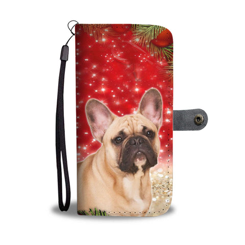 French Bulldog On Christmas Print Wallet Case-Free Shipping