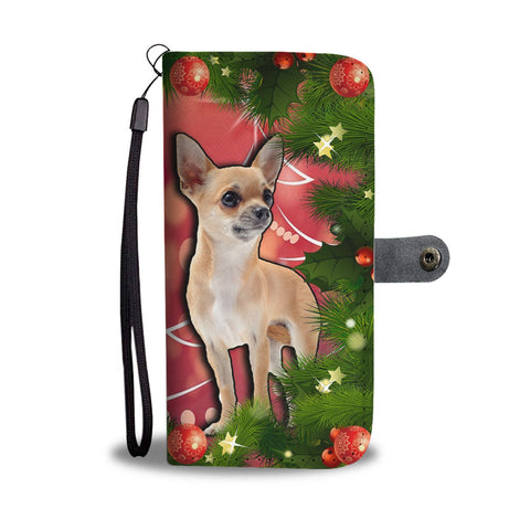 Cute Chihuahua Dog Christmas Print Wallet Case-Free Shipping