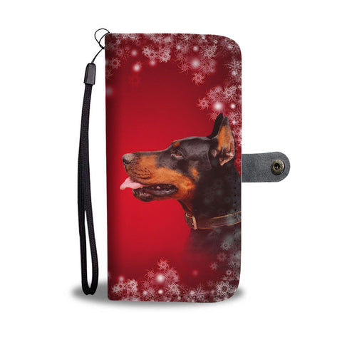 Doberman Pinscher Dog Christmas Print Wallet Case-Free Shipping