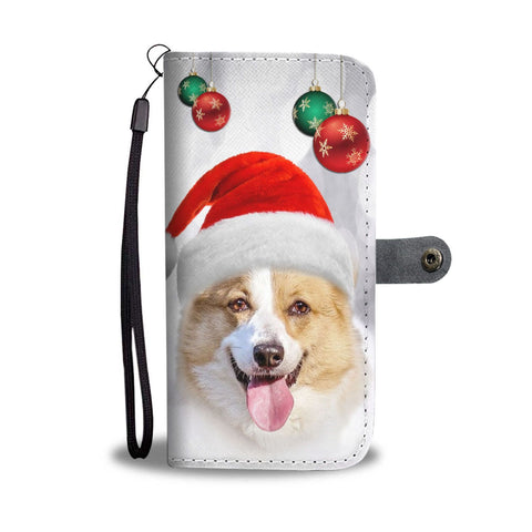 Pembroke Welsh Corgi Christmas Print Wallet Case-Free Shipping