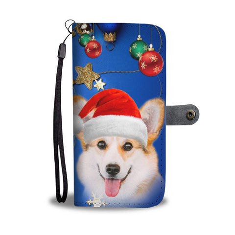 Cute Pembroke Welsh Corgi Christmas Print Wallet Case-Free Shipping