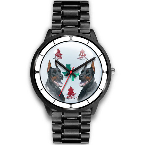 Doberman Pinscher Texas Christmas Special Wrist Watch-Free Shipping