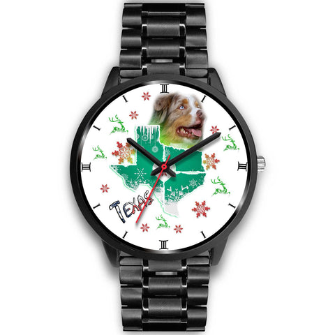 Australian Shepherd Dog Texas Christmas Special Wrist Watch-Free Shipping