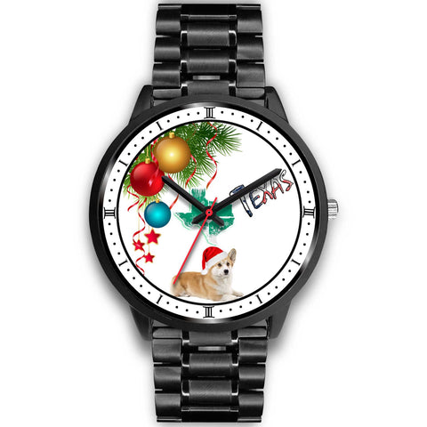 Pembroke Welsh Corgi Texas Christmas Special Wrist Watch-Free Shipping