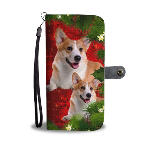 Lovely Pembroke Welsh Corgi Christmas Print Wallet Case-Free Shipping
