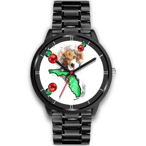 Beagle Dog On Christmas Florida Wrist Watch-Free Shipping