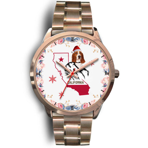 Basset Hound California Christmas Special Wrist Watch-Free Shipping