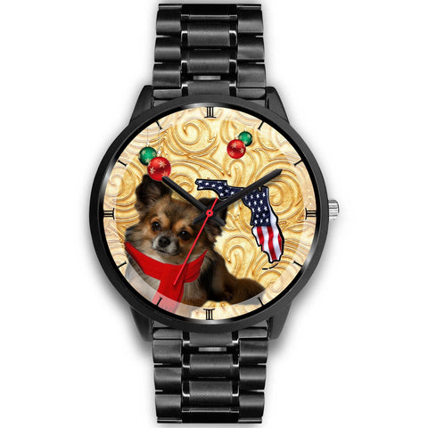 Chihuahua Dog On Christmas Florida Wrist Watch-Free Shipping
