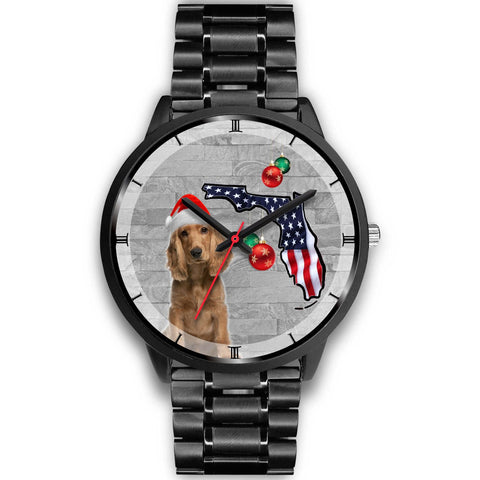 Cocker Spaniel On Christmas Florida Wrist Watch-Free Shipping