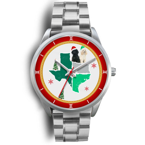 Poodle Dog Texas Christmas Special Wrist Watch-Free Shipping