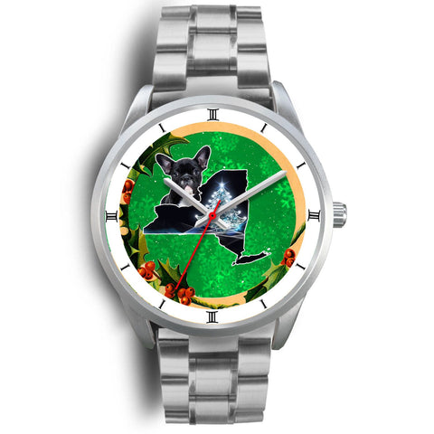 Cute French Bulldog New York Christmas Special Wrist Watch-Free Shipping