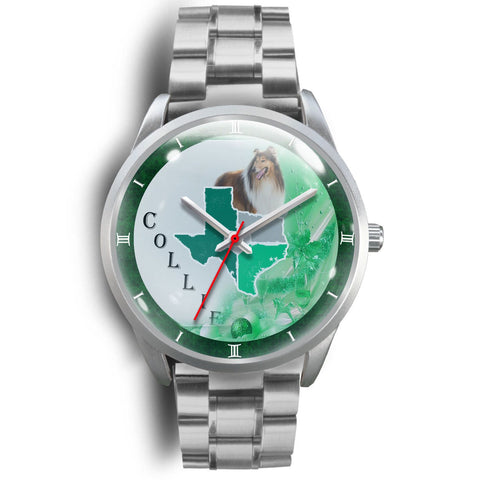 Rough Collie Texas Christmas Special Wrist Watch-Free Shipping