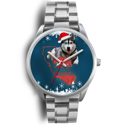 Siberian Husky California Christmas Special Wrist Watch-Free Shipping