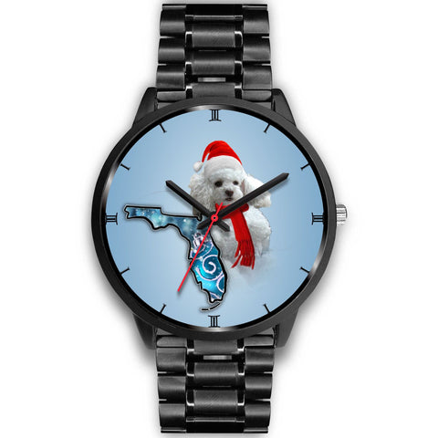 Poodle Dog On Christmas Florida Wrist Watch-Free Shipping
