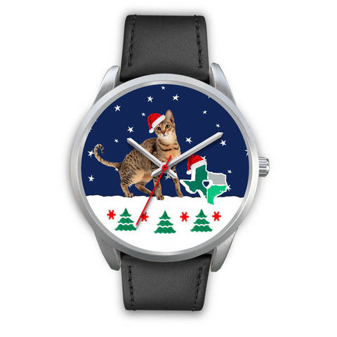 Savannah cat Texas Christmas Special Wrist Watch-Free Shipping