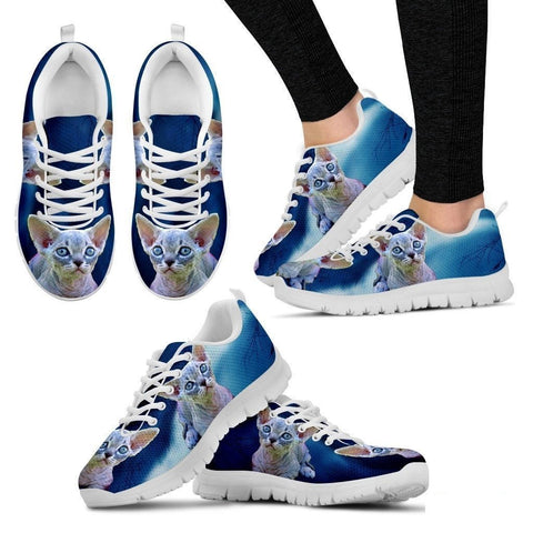 Minskin Cat (Black/White) Running Shoes For Women-Free Shipping-Paww-Printz-Merchandise