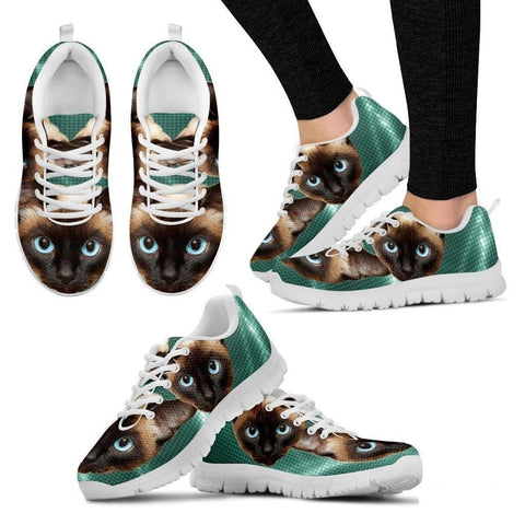 Siamese Cat Print Running Shoes For Women-Free Shipping-Paww-Printz-Merchandise