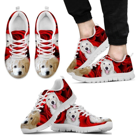 White labradoodle Running Shoe For Men- Free Shipping-Paww-Printz-Merchandise