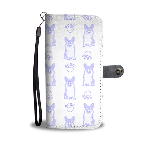 Pembroke Welsh Corgi With Paws Print Wallet Case-Free Shipping