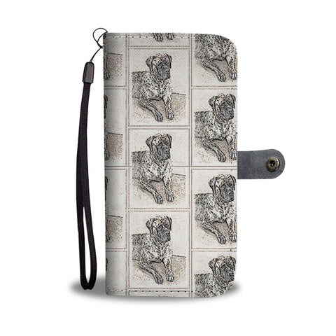 English Mastiff Dog Patterns Print Wallet Case-Free Shipping