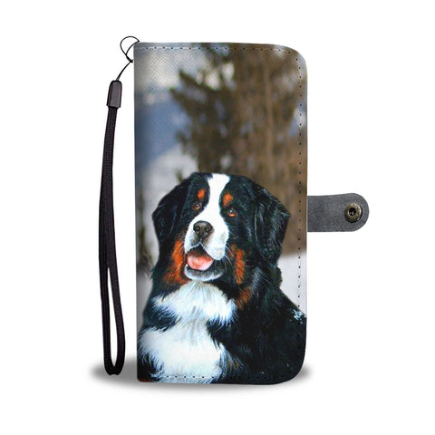 Bernese Mountain Dog Print Wallet Case-Free Shipping