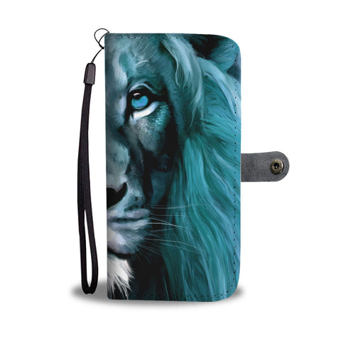 Amazing Lion Print Wallet Case-Free Shipping