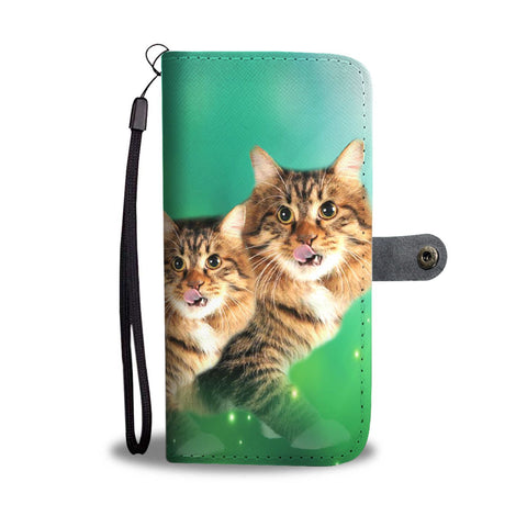 Cute American Bobtail Print Wallet Case-Free Shipping