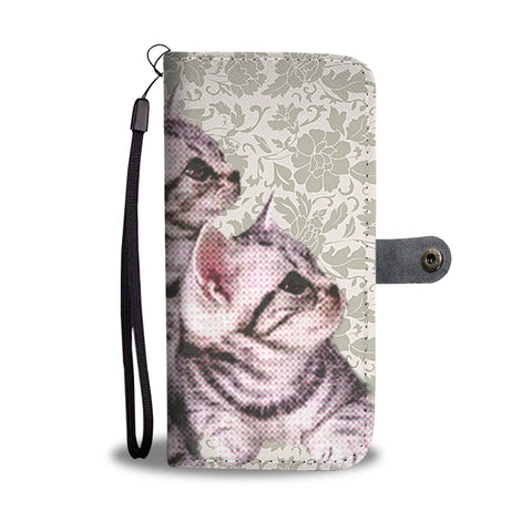Cute American Shorthair Cat Print Wallet Case-Free Shipping