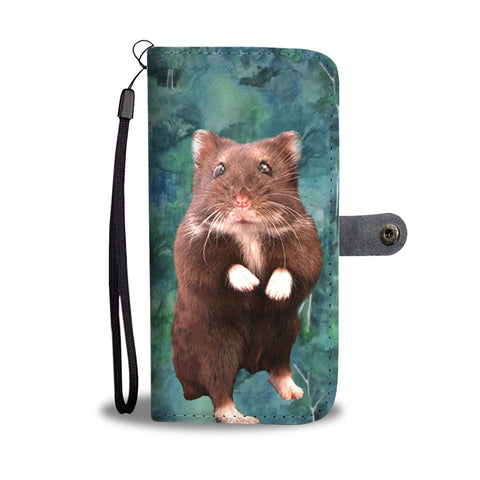 Djungarian Hamster (Striped Dwarf Hamster) Print Wallet Case-Free Shipping