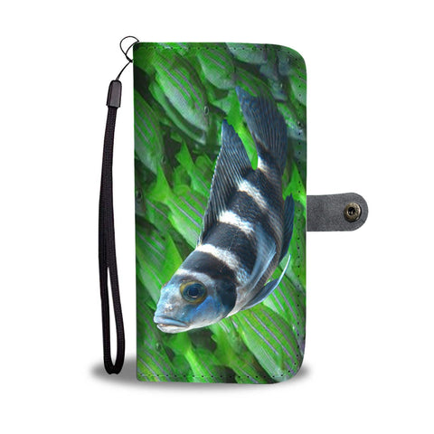 African Cichlid Fish Print Wallet Case-Free Shipping