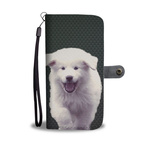 Great Pyrenees Dog And Puppy Print Wallet Case-Free Shipping
