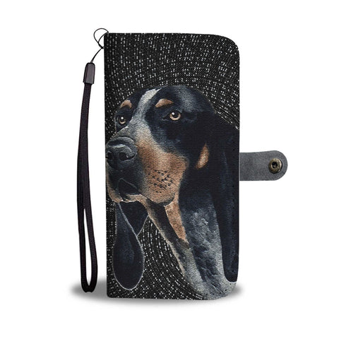 Amazing Bluetick Coonhound Dog Print Wallet Case-Free Shipping