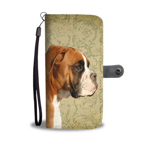 Boxer Dog Print Wallet Case- Free Shipping