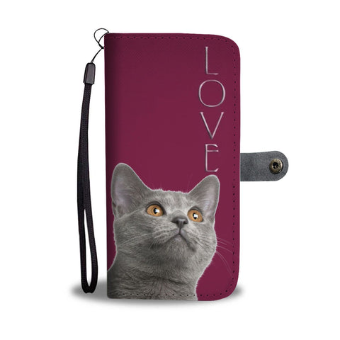Chartreux Cat Print Wallet Case-Free Shipping