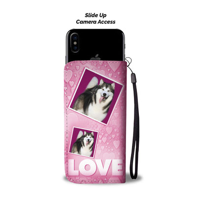 Alaskan Malamute dog with Love Print Wallet Case-Free Shipping - Home Resources USA