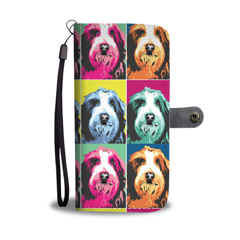 Bearded Collie Pattern Print Wallet Case- Free Shipping