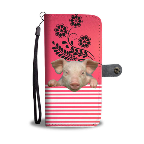 Miniature pig Print Wallet Case-Free Shipping