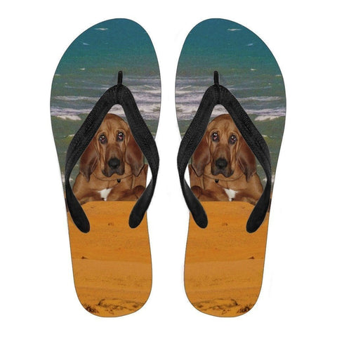 BloodHound Flip Flops For Men-Free Shipping-Paww-Printz-Merchandise