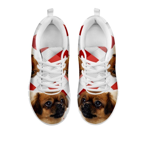 Amazing Tibetan Spaniel Red White Print Running Shoes For Women-Free Shipping-For 24 Hours Only-Paww-Printz-Merchandise