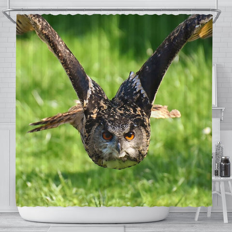 Flying Owl Bird Print Shower Curtains-Free Shipping