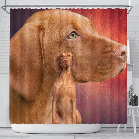 Vizsla Dog Print Shower Curtains-Free Shipping