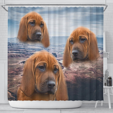 Lovely Redbone Coonhound Print Shower Curtains-Free Shipping