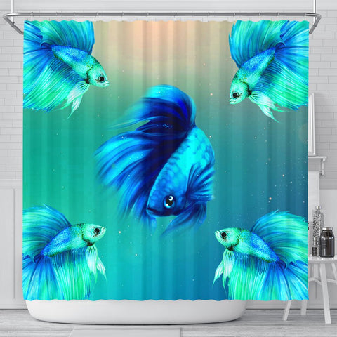 Betta Fish Print Shower Curtains-Free Shipping