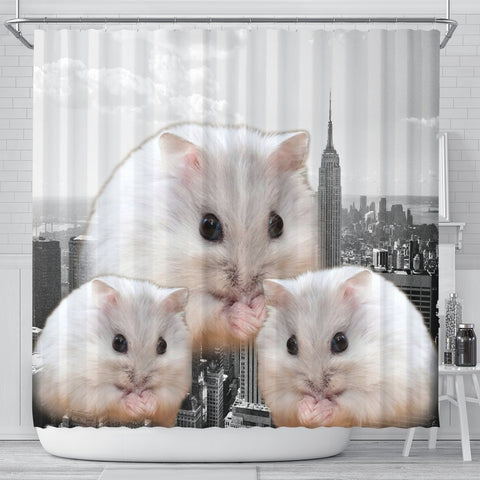 Amazing Chinese Hamster Print Shower Curtains-Free Shipping