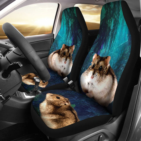 Campbell's Dwarf Hamster Print Car Seat Covers- Free Shipping
